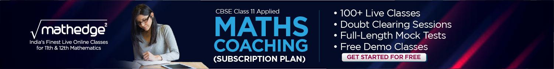 CBSE Applied Maths Classes